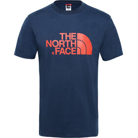 The North Face Easy S/S Tee Men urban navy/fiery red